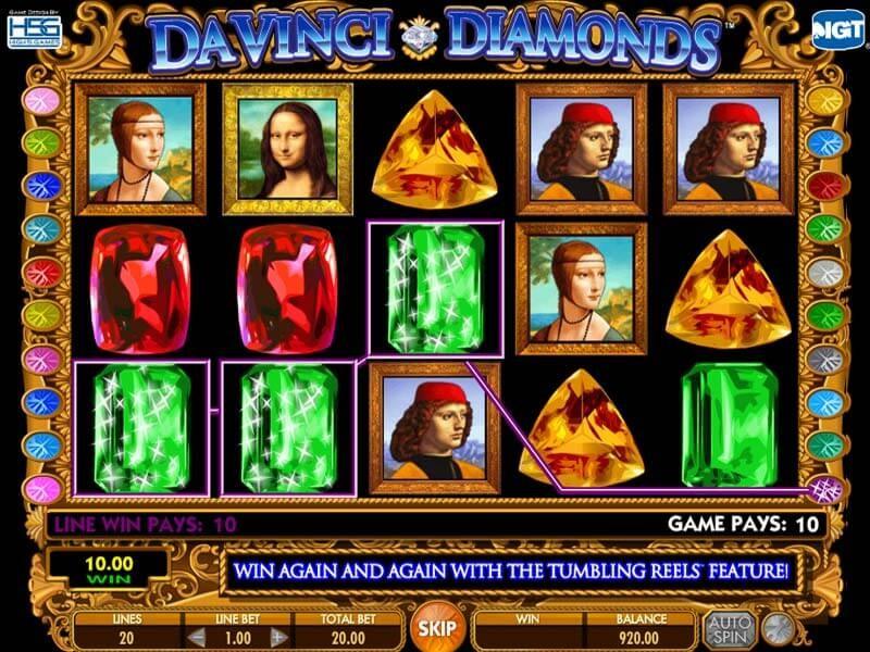 Máquina tragamonedas Davinci Diamonds